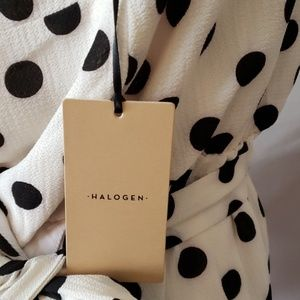 Halogen Tops - Halogen Sleeveless polka dot Blouse